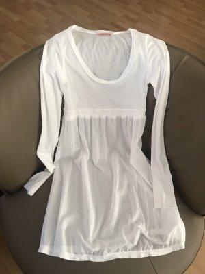 Velvet Sommerkleid Langarm weiß Größe S