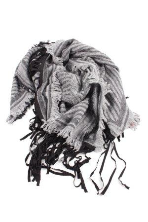 Velvet St. Fields Fransenschal schwarz-hellgrau grafisches Muster Casual-Look