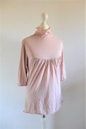 Velvet Stehkragen Shirt 3/4 Arm rosa rose Gr. L 40