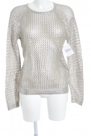 Velvet Knitted Sweater silver-colored-beige extravagant style