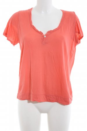 Velvet T-Shirt hellorange Casual-Look