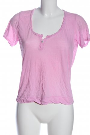 Velvet T-shirt rose style décontracté