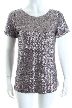 Velvet T-Shirt graulila Metallic-Optik