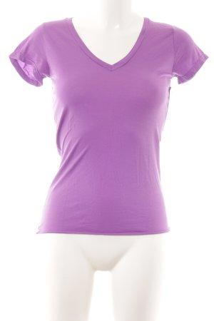 Velvet T-Shirt lila Casual-Look