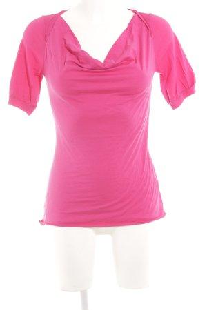Velvet T-Shirt magenta Casual-Look