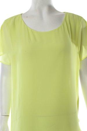 Velvet T-Shirt neongelb Transparenz-Optik