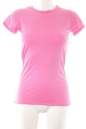 Velvet T-Shirt rosa Casual-Look