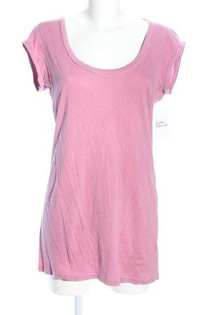 Velvet T-Shirt rosa schlichter Stil