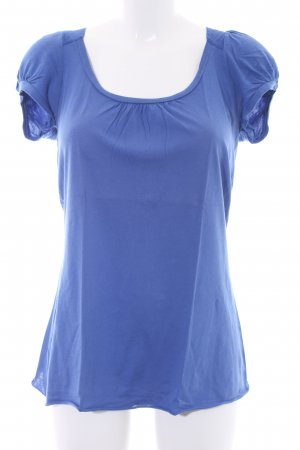 Velvet T-Shirt stahlblau Casual-Look