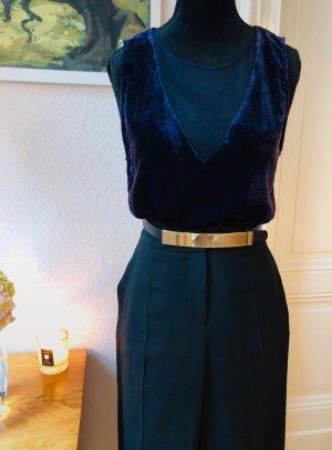 velvet top/bluse/Oberteil mit transparenzen