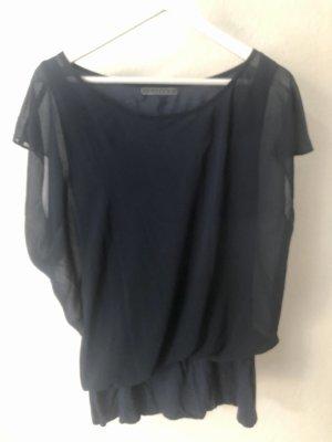 Velvet Camisa holgada azul oscuro