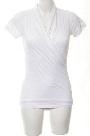 Velvet Camisa cruzada blanco look casual