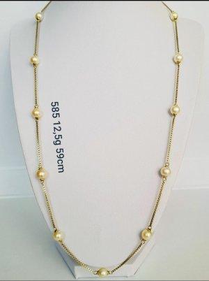Venezianische 585 Goldkette 12,5 Gramm mit Süßwasserperlen