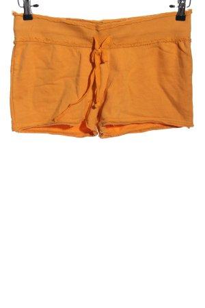 Venice beach Hot Pants hellorange Schriftzug gedruckt schlichter Stil