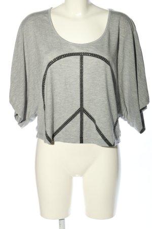 Venice beach Camicia oversize grigio chiaro-nero Stampa a tema stile casual
