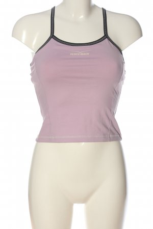 Venice beach Top con bretelline rosa-nero stile casual