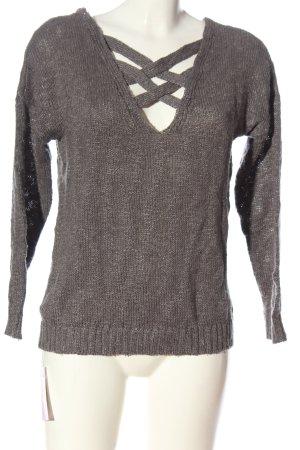Venice beach Pull tricoté gris clair style décontracté
