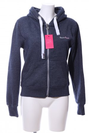 Venice beach Sweat Jacket blue flecked casual look