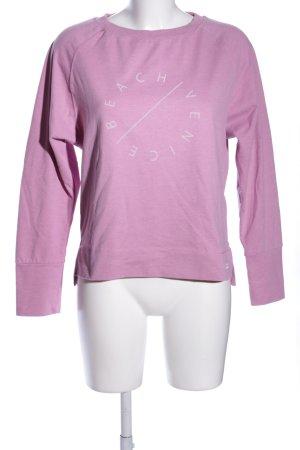 Venice beach Sweatshirt pink-weiß Schriftzug gedruckt Casual-Look