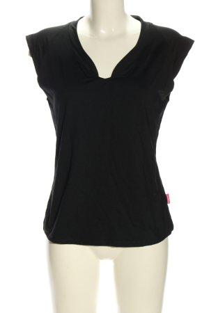Venice beach V-Ausschnitt-Shirt schwarz Casual-Look