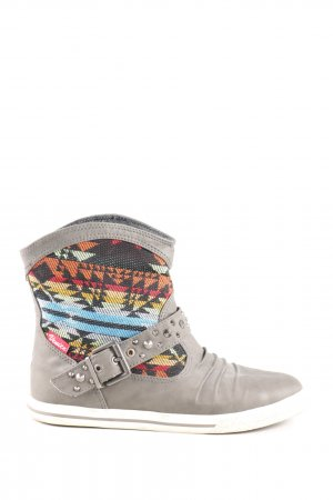 Venice Booties grafisches Muster Casual-Look