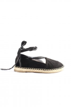 Venice Espadrille Sandals black casual look