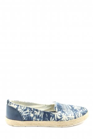 Venice Schlüpfschuhe blau-wollweiß abstraktes Muster Casual-Look