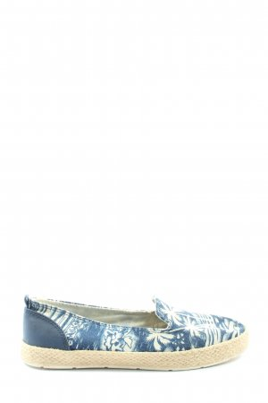 Venice Slip-on Shoes blue-white themed print casual look