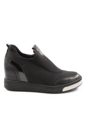 Venice Instapsneakers zwart casual uitstraling