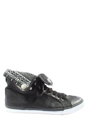 Venice Schlüpfsneaker schwarz-weiß grafisches Muster Casual-Look