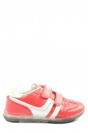 Venice Sneaker Klettverschluss rot-weiß Casual-Look