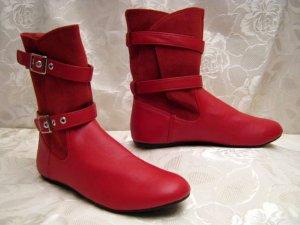 Venice Stiefel Boots Größe 38 Rot Slouch Flats
