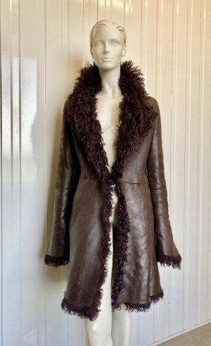 Ventcouvert Winter Coat brown leather