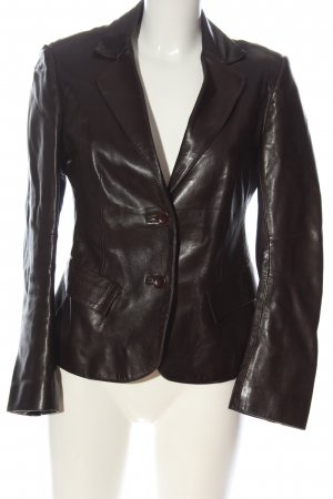 Ventcouvert Leather Jacket brown casual look