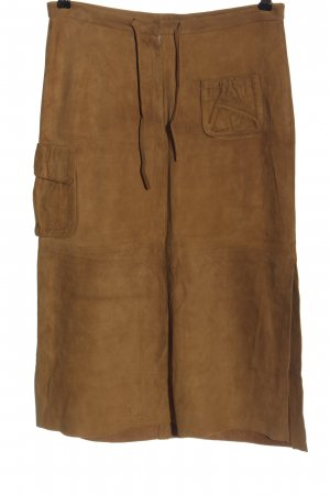 Ventcouvert Faux Leather Skirt brown casual look