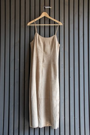 Ventcouvert Leather Dress beige leather
