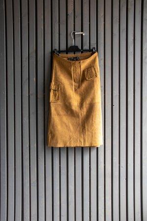 Falda estilo cargo color bronce