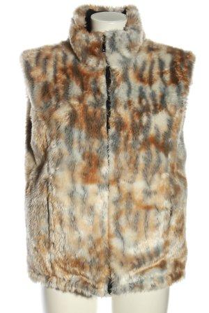 Venti Miglio Fake Fur Vest animal pattern casual look