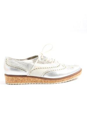 Venturini Wingtip Shoes silver-colored casual look