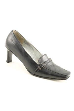 Venturini Chaussure à talons carrés noir style classique