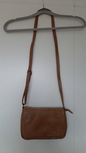 Venturini Milano kleine Handtasche braun mit Reißverschluss wie neu