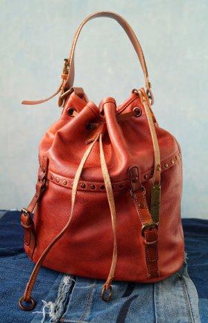Alberto Venturini Pouch Bag brick red leather