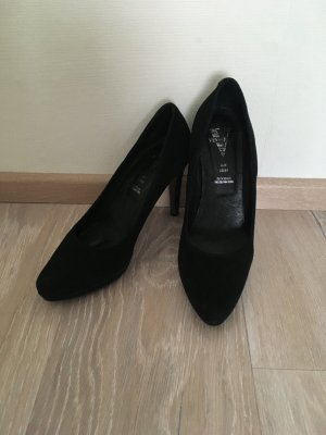 Venturini Pumps High Heels schwarz Leder 38