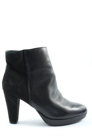 Venturini Reißverschluss-Stiefeletten schwarz Casual-Look