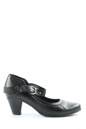Venturini Backless Pumps black casual look