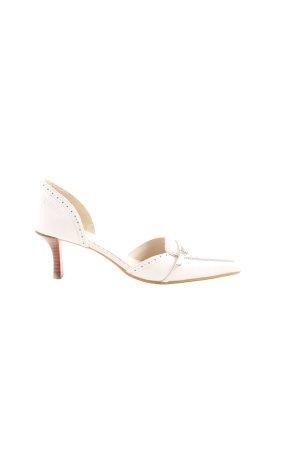 Venturini Spitz-Pumps weiß Elegant