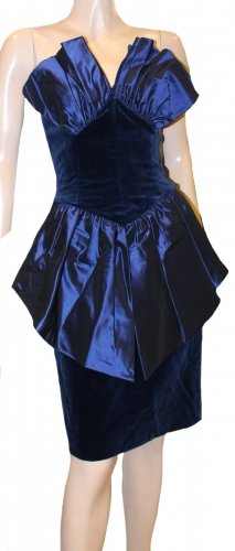 Windsor Evening Dress blue silk