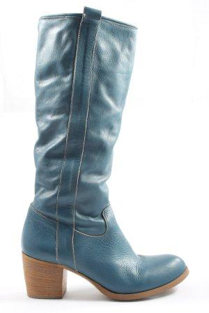 Vera Gomma High Heel Stiefel blau Casual-Look
