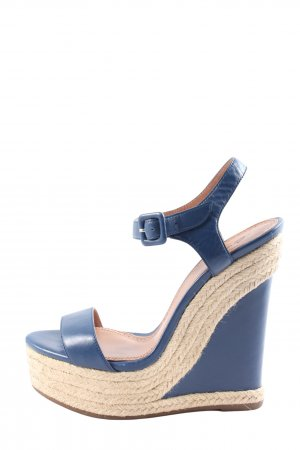 Vera Gomma Komfort-Sandalen blau-creme Casual-Look