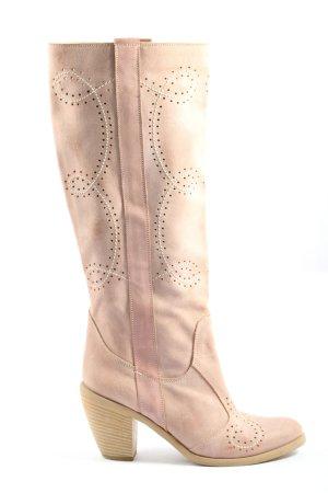 Vera Gomma Botas de pantorrilla ancha rosa look casual